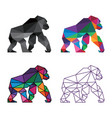 gorilla low poly design vector image