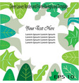 green leaves frame and border background template vector image vector image