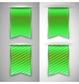 Green ribbon bookmark for books vector image vector image