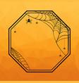 halloween geometric frame vector image