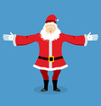 Happy Santa Claus spread his arms in an embrace vector image vector image
