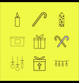 holidays linear icon set vector image vector image