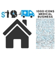 Home Building Icon with 1000 Medical Business vector image vector image