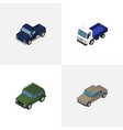 isometric car set of suv auto lorry and other vector image vector image