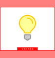 light bulb icon llightbulb idea logo concept vector image vector image