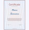 light certificate mockup vector image