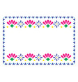 mexican frame design with flowers vector image