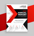 modern red theme annual report business template vector image vector image