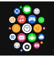 Modern Smartwatch Style Background with Icons in