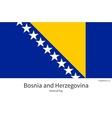 national flag bosnia and herzegovina vector image
