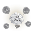 Origami No Ideas Design vector image