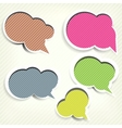 Paper origami speech bubble Colored blank for text vector image vector image