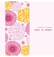 pink field flowers vertical frame seamless pattern vector image vector image