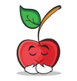 praying face cherry character cartoon style vector image vector image