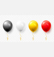 realistic black white red and gold balloons vector image vector image