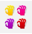 realistic design element hand vector image