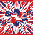 red white and blue splash abstract vector image