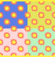retro seamless pattern with sun vector image