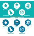 set icons allergen vector image
