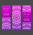 set of vertical ethnic narrow banners vector image