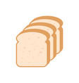 sliced bread flat vector image