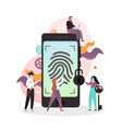 smartphone fingerprint security concept vector image