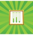 Test-tubes picture icon vector image vector image