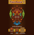 tiki pack 1 vector image