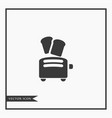 toaster icon simple vector image vector image