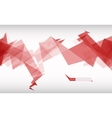 Trendy banner from abstract triangles vector image