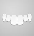 Upper front teeth vector image vector image