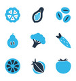 vegetable icons colored set with tomato papaya vector image
