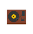 vinyl player icon flat style vector image vector image