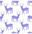 Watercolor seamless pattern with deers on the vector image vector image