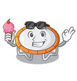 with ice cream trampoline character room on place vector image