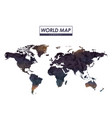 world map low polygon in colorful silhouette vector image