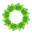 wreath of green spring leaves vector image