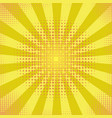 yellow retro vintage style background with sun vector image