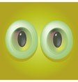 Cartoon monster eyes vector image