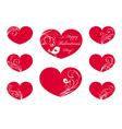 Ornate hearts vector image