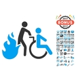 Fire Patient Evacuation Icon With 2017 Year Bonus vector image