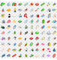 100 law icons set isometric 3d style vector image vector image