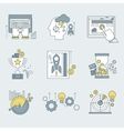 abstract collection flat business vector image