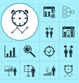 administration icons set with decision making vector image