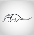 anteater logo icon design vector image vector image