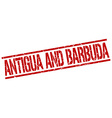 Antigua And Barbuda red square stamp vector image vector image