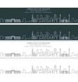 bahrain single line skyline banner vector image vector image