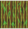 Bamboo sticks and leaves Abstract seamless vector image vector image