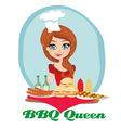 BBQ queen vector image vector image