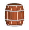 brown and grey barrel and black stripes vector image